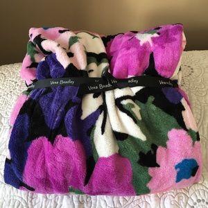 Vera Bradley Flower Garden Fleece Throw Blanket